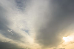 Nuvens escuras Fotografia de Stock Royalty Free
