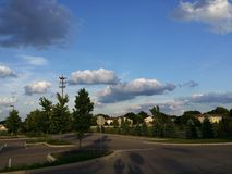 Nuvens escuras bonitas Fotos de Stock Royalty Free