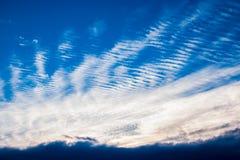 Nuvens estranhas Imagens de Stock