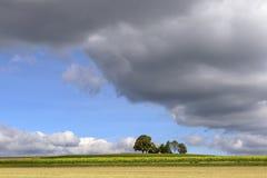 Nuvens grossas em campos da queda, Alemanha Imagem de Stock Royalty Free