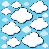 Nuvens inchado dos desenhos animados Fotos de Stock Royalty Free