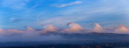 Nuvens incomuns Fotos de Stock