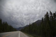 Nuvens irritadas Fotografia de Stock Royalty Free