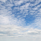Nuvens macias brancas Foto de Stock