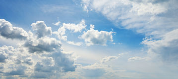 Nuvens macias brancas Fotografia de Stock Royalty Free
