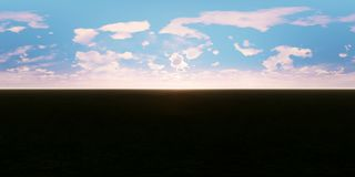 Nuvens moventes na realidade virtual do por do sol 360 panorâmico filme