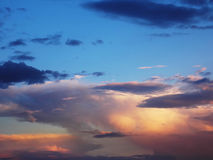 Nuvens na manhã foto de stock