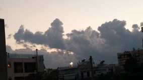 Nuvens na noite Fotos de Stock Royalty Free