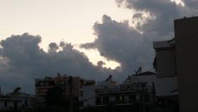 Nuvens na noite Fotos de Stock