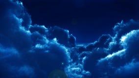 Nuvens na noite ilustração stock