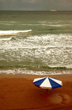 Nuvens na praia #3 Imagens de Stock