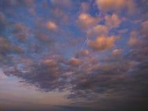 Nuvens na tarde imagem de stock royalty free