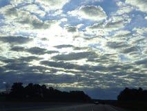 Nuvens no céu Fotos de Stock