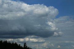 Nuvens no céu fotos de stock royalty free