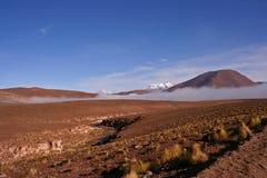Nuvens no deserto Imagem de Stock