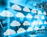 Nuvens no Internet Fotos de Stock Royalty Free
