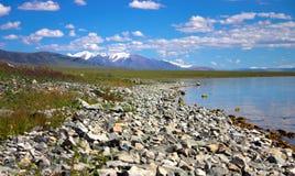Nuvens no lago Foto de Stock