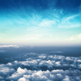 Nuvens no panorama da atmosfera do céu fotografia de stock royalty free