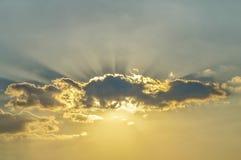Nuvens no por do sol Imagem de Stock Royalty Free