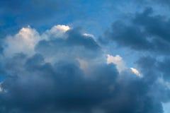 Nuvens no por do sol Fotografia de Stock Royalty Free
