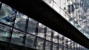 Nuvens no vidro fotos de stock