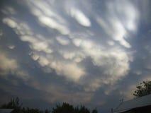 Nuvens Nuvens no estepe Fotografia de Stock