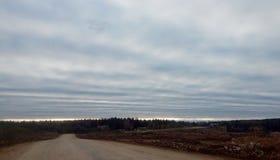 Nuvens ondulados Fotografia de Stock Royalty Free