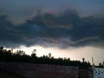 Nuvens perigosas Imagens de Stock
