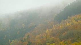 Nuvens que flutuam sobre os montes de Eifel do outono em Alemanha filme