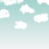 Nuvens realísticas do vetor no contexto do céu azul Foto de Stock