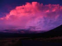 Nuvens roxas fotos de stock