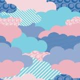 Nuvens sem emenda do papel de parede Fotos de Stock Royalty Free