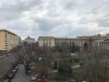 Nuvens sobre a cidade Imagem de Stock Royalty Free