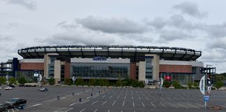 Nuvens sobre Gillette Stadium Imagem de Stock