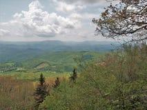 Nuvens sobre Grayson Highlands State Park foto de stock