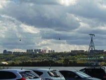 Nuvens sobre Nizhny Novgorod foto de stock royalty free