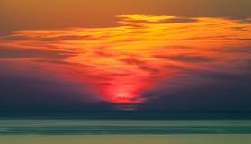Nuvens sobre o mar imagem de stock royalty free