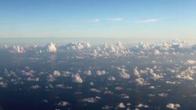 Nuvens sobre o mar, vista aérea filme