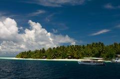 Nuvens sobre o Oceano Índico Foto de Stock