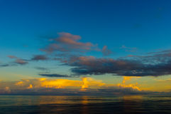 Nuvens sobre o Oceano Atlântico Foto de Stock Royalty Free