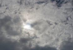 Nuvens sobre o sol Foto de Stock Royalty Free