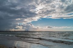 Nuvens sobre a praia Fotografia de Stock Royalty Free
