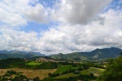 Nuvens sobre Sassoferrato Foto de Stock