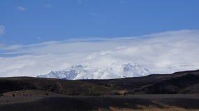 Nuvens sobre Solheimajökull Fotografia de Stock