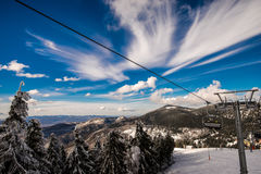 Nuvens surpreendentes e céu azul Fotografia de Stock Royalty Free