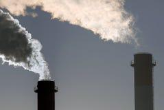 Nuvens tóxicas perigosas do CO2 imagens de stock