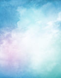 Nuvens Textured do inclinação Imagens de Stock Royalty Free