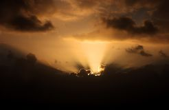 Nuvens tormentosos Imagens de Stock Royalty Free