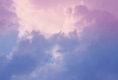 Nuvens tormentosos Fotos de Stock