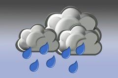 Nuvens Triplex ilustração stock